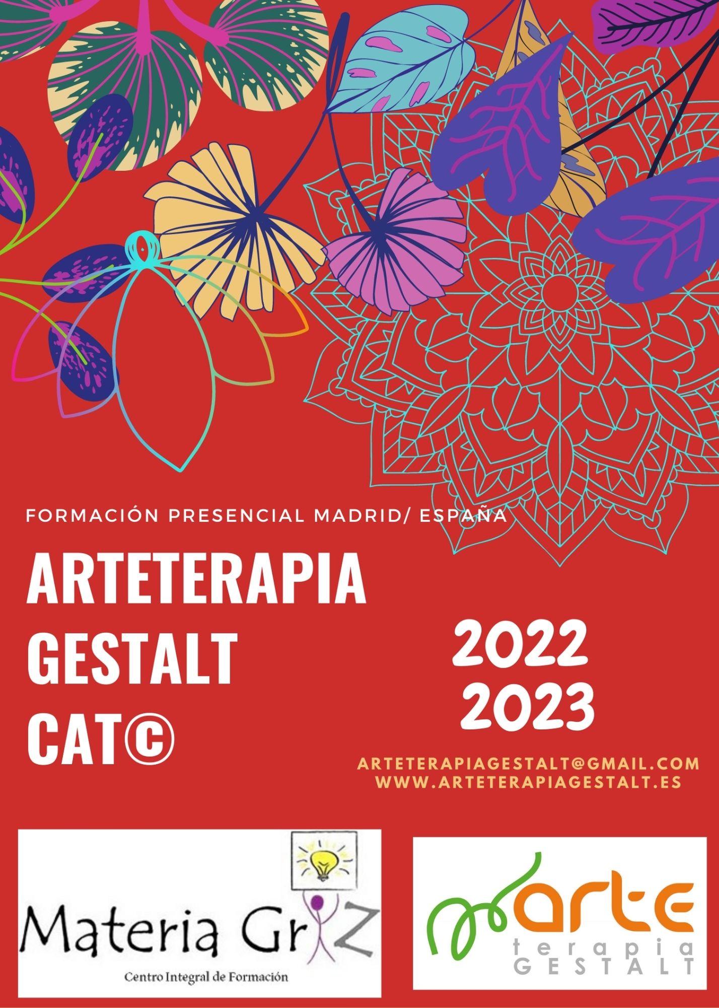 imagen: 2022- 2023 Formación PRESENCIAL CAT® Arteterapia Gestalt- Materia Griz- Madrid- España