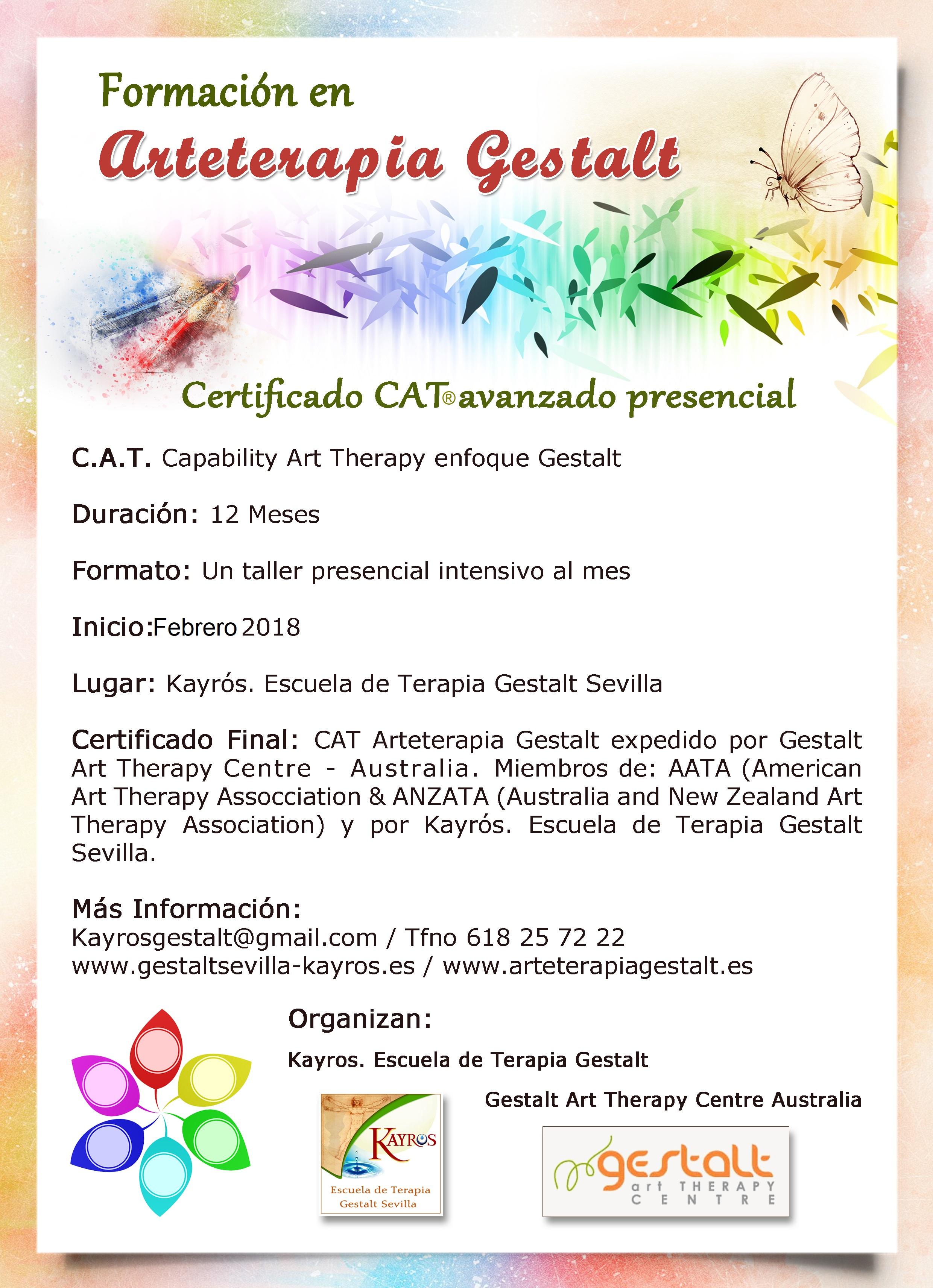 imagen de entrada del blog: 2018 Formación CAT® PRESENCIAL AVANZADO Arteterapia Gestalt en Kayrós Escuela de Terapia Gestalt- SEVILLA- España Capability Art Therapy enfoque Gestalt