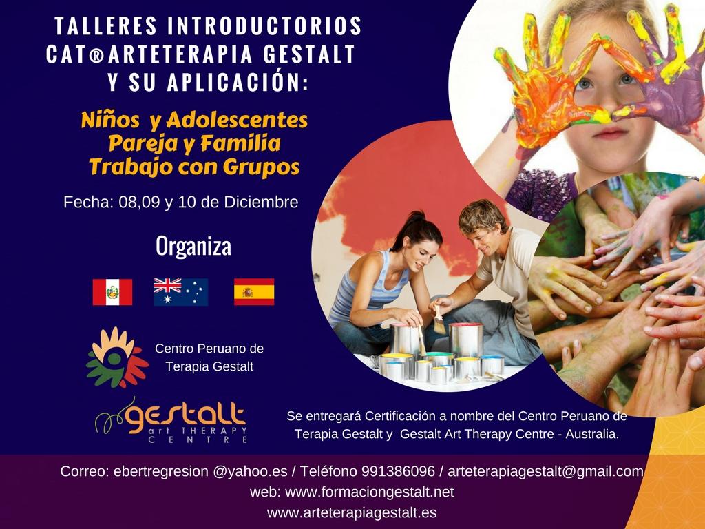 imagen de entrada del blog: 4 Talleres Introducción CAT® Arteterapia Gestalt en el Centro Peruano de Terapia Gestalt Perú