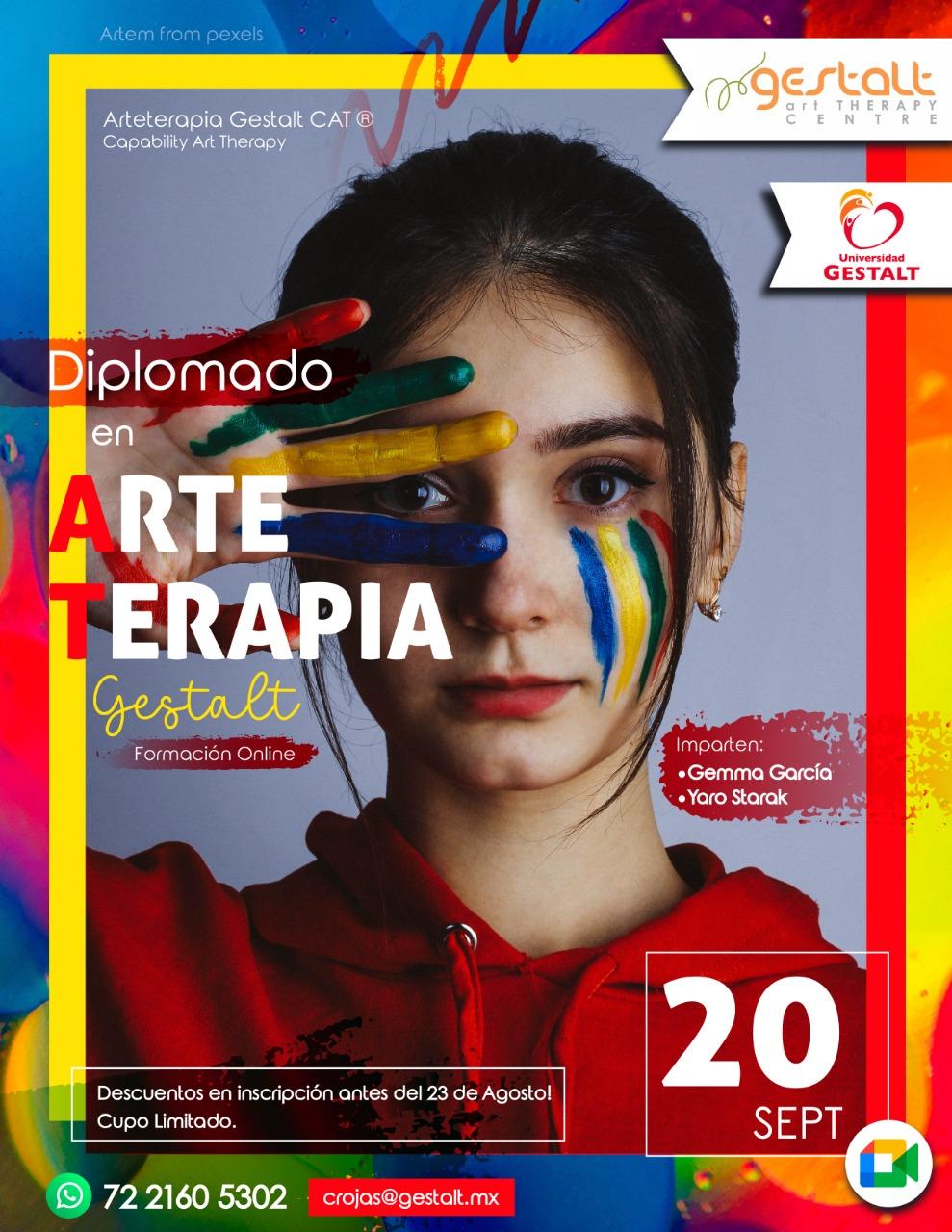 foto #1 de entrada del blog: 2021- 2022 Diplomado Internacional ONLINE Arteterapia Gestalt CAT© en la Universidad Gestalt México