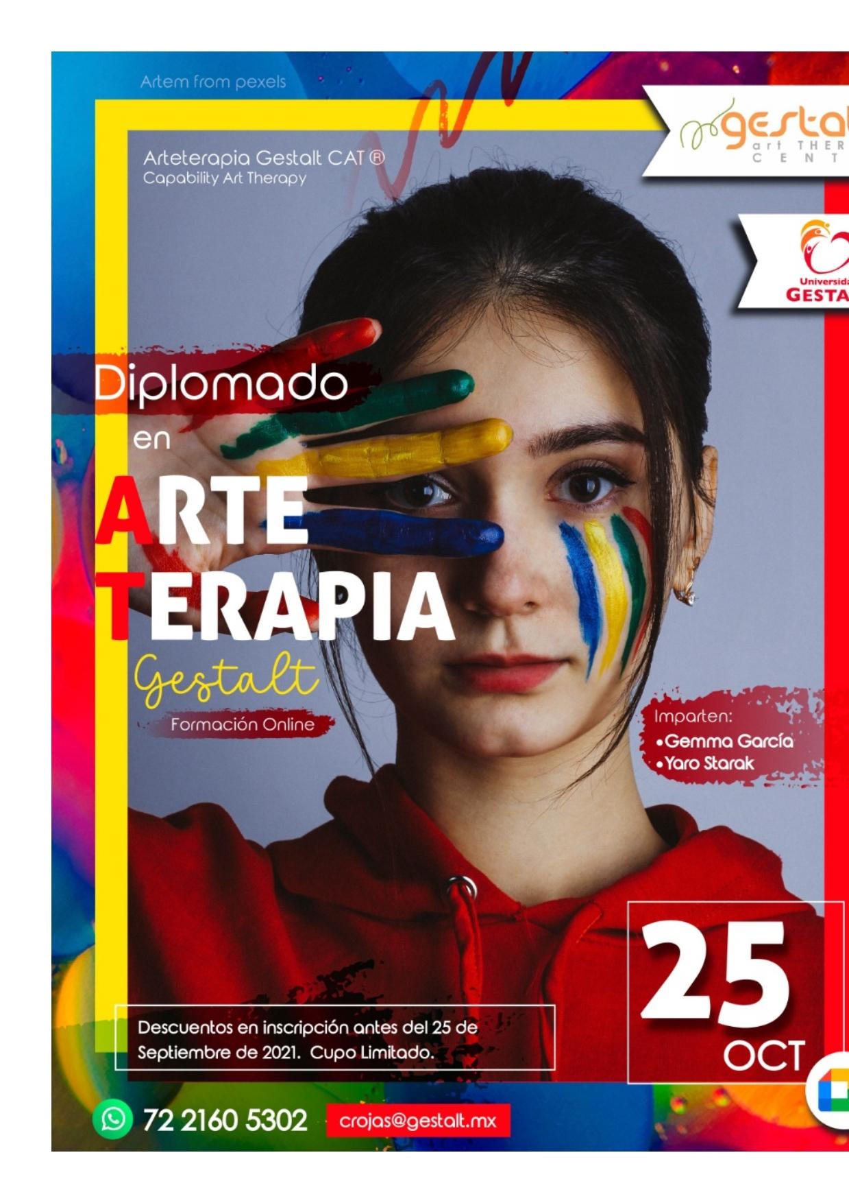 imagen de entrada del blog: 2021- 2022 Diplomado Internacional ONLINE Arteterapia Gestalt CAT© en la Universidad Gestalt México