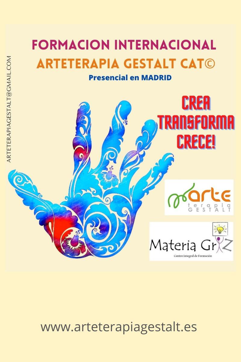 imagen de entrada del blog: 2021- 2022 Formación PRESENCIAL CAT® Arteterapia Gestalt- Materia Griz- Madrid- España