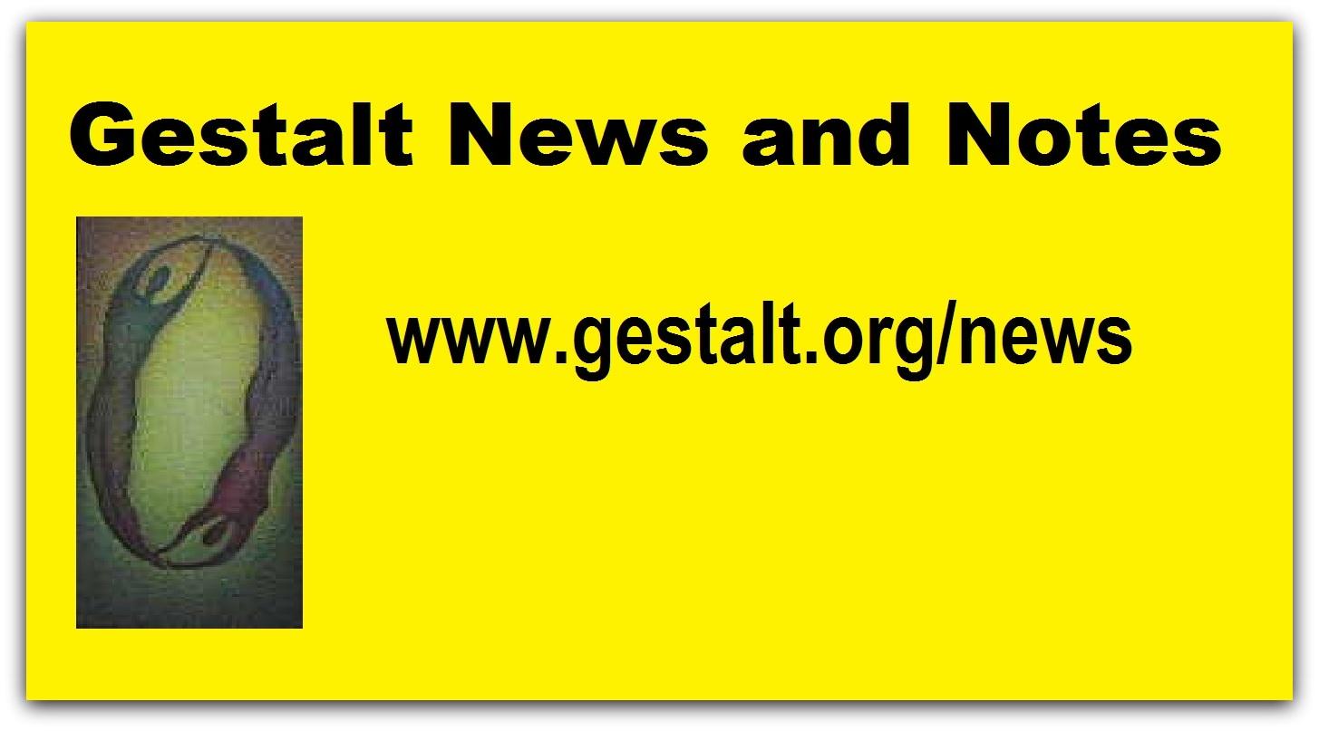 foto #1 de entrada del blog: NEWS & NOTES sobre Terapia  Gestalt en idioma inglés