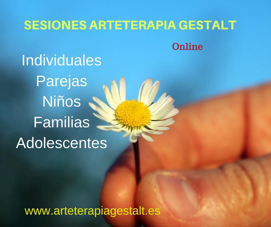 imagen sesión terapia 2021 Sesión online Arteterapia Gestalt